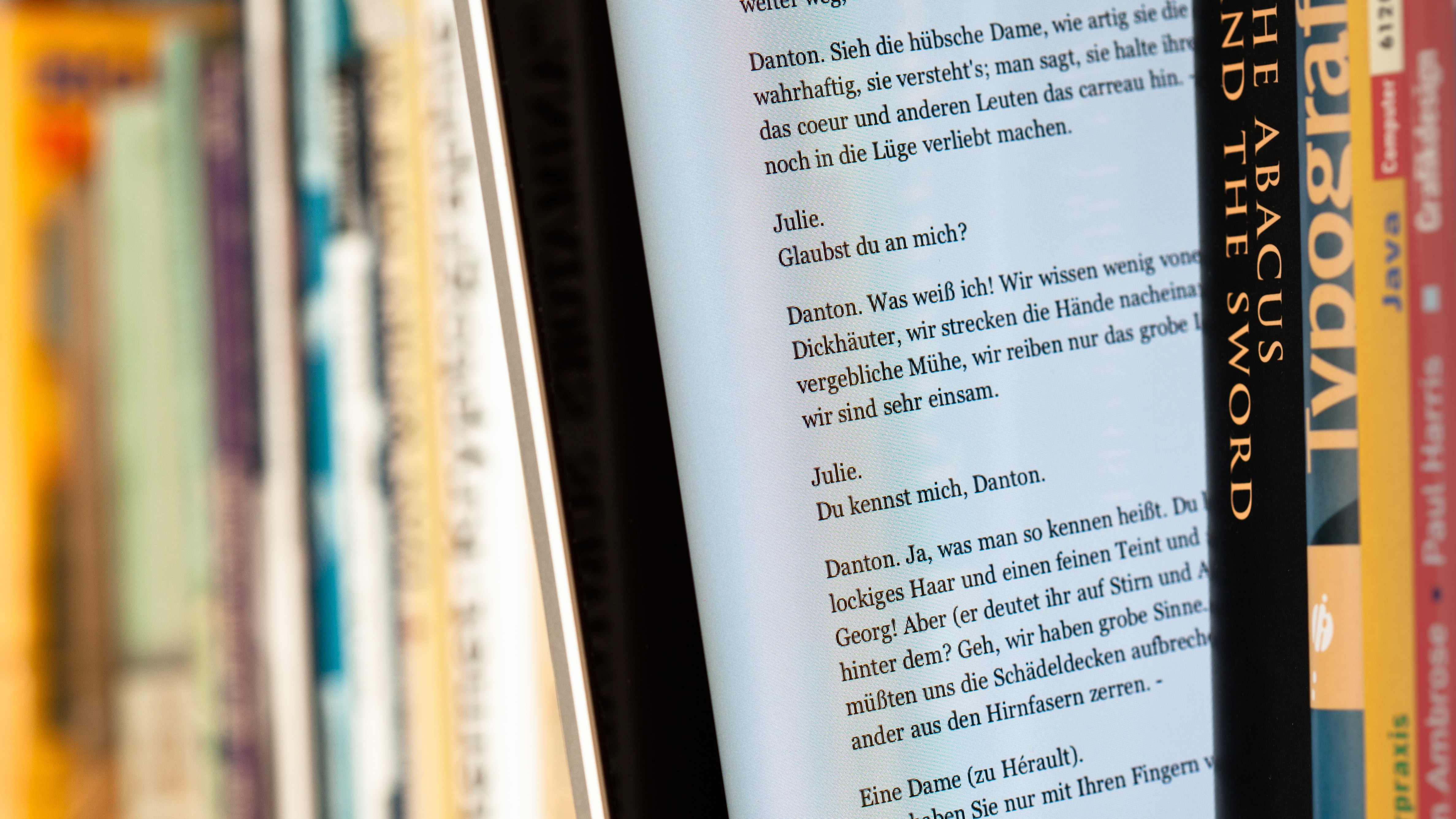 EBook between paper books