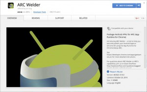 The ARC-Welder Extension for Chrome