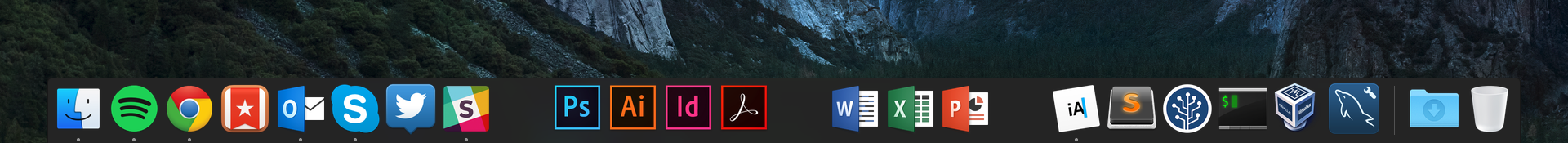 My Dock on OS X 10.11