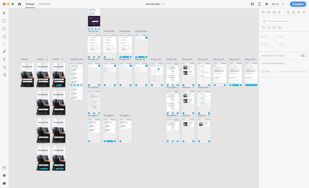 Screenshot of Adobe XD